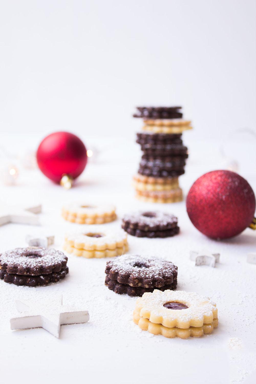 Linzer Weihnachtsplätzchen.Linzer Plätzchen Zweierlei Wundertörtchen Linzer Plätzchen Zweierlei