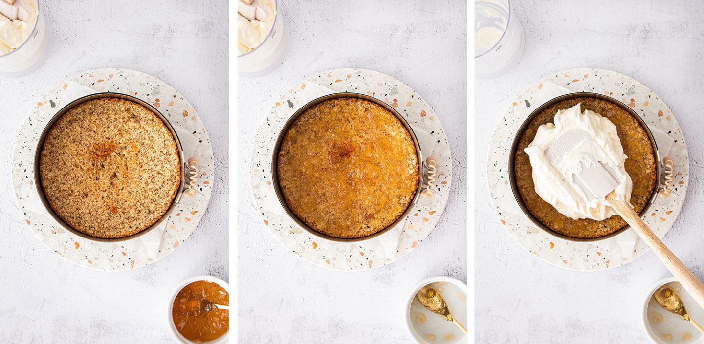 saftiger mandelkuchen mit quittengelee & vanillecreme