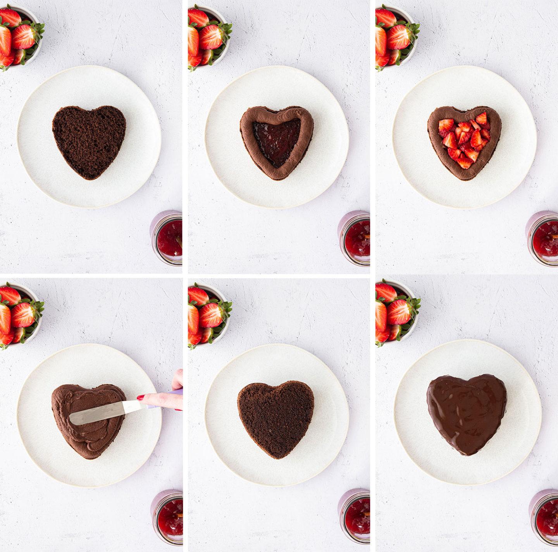 Schokoladen Herztörtchen