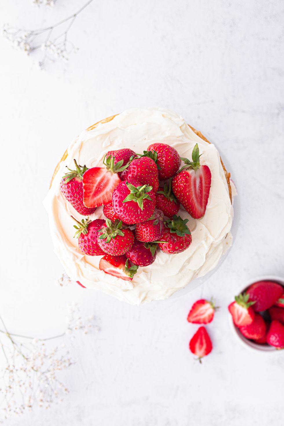 Erdbeer-Zitronen Törtchen von oben
