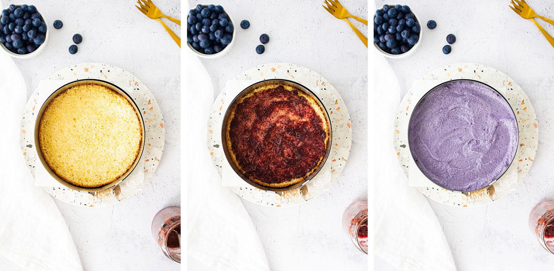 Zitronentörtchen mit Blaubeercreme