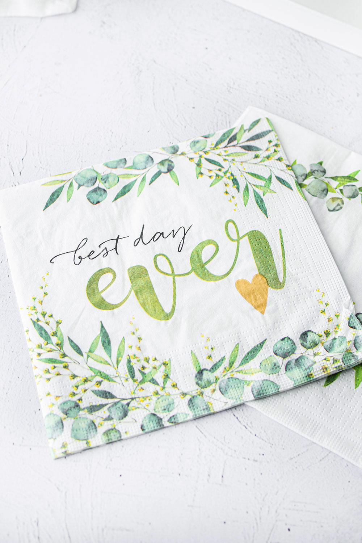 Wedding-Serviette