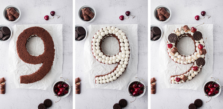 Number Cake Aufbau