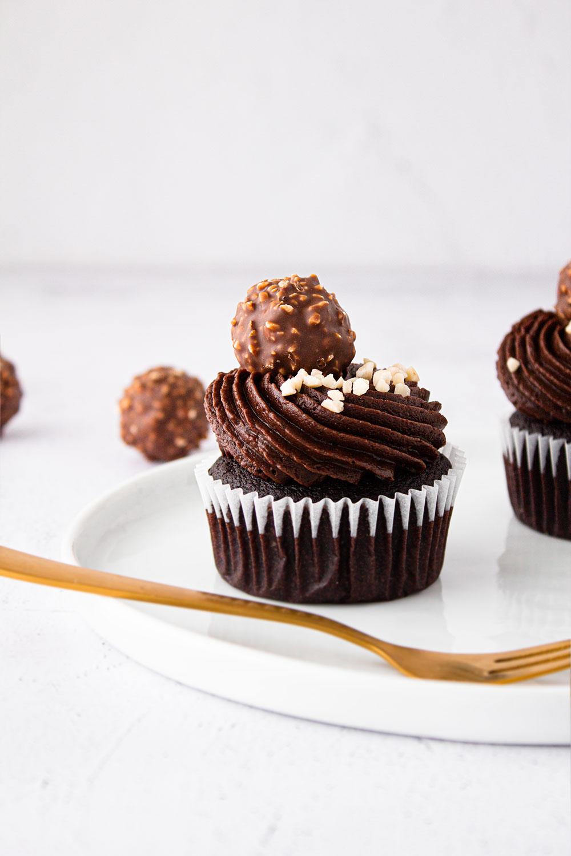 Schoko-Haselnuss Cupcake