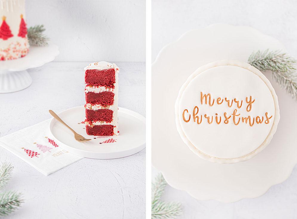 Red Velvet Cake Anschnitt