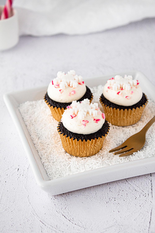 Schoko-Pfefferminz Cupcakes