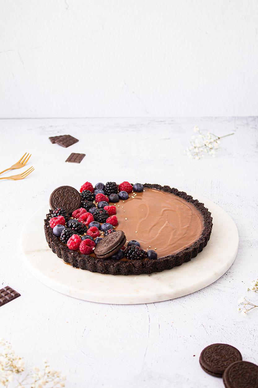 Vegane Schokoladen Tarte