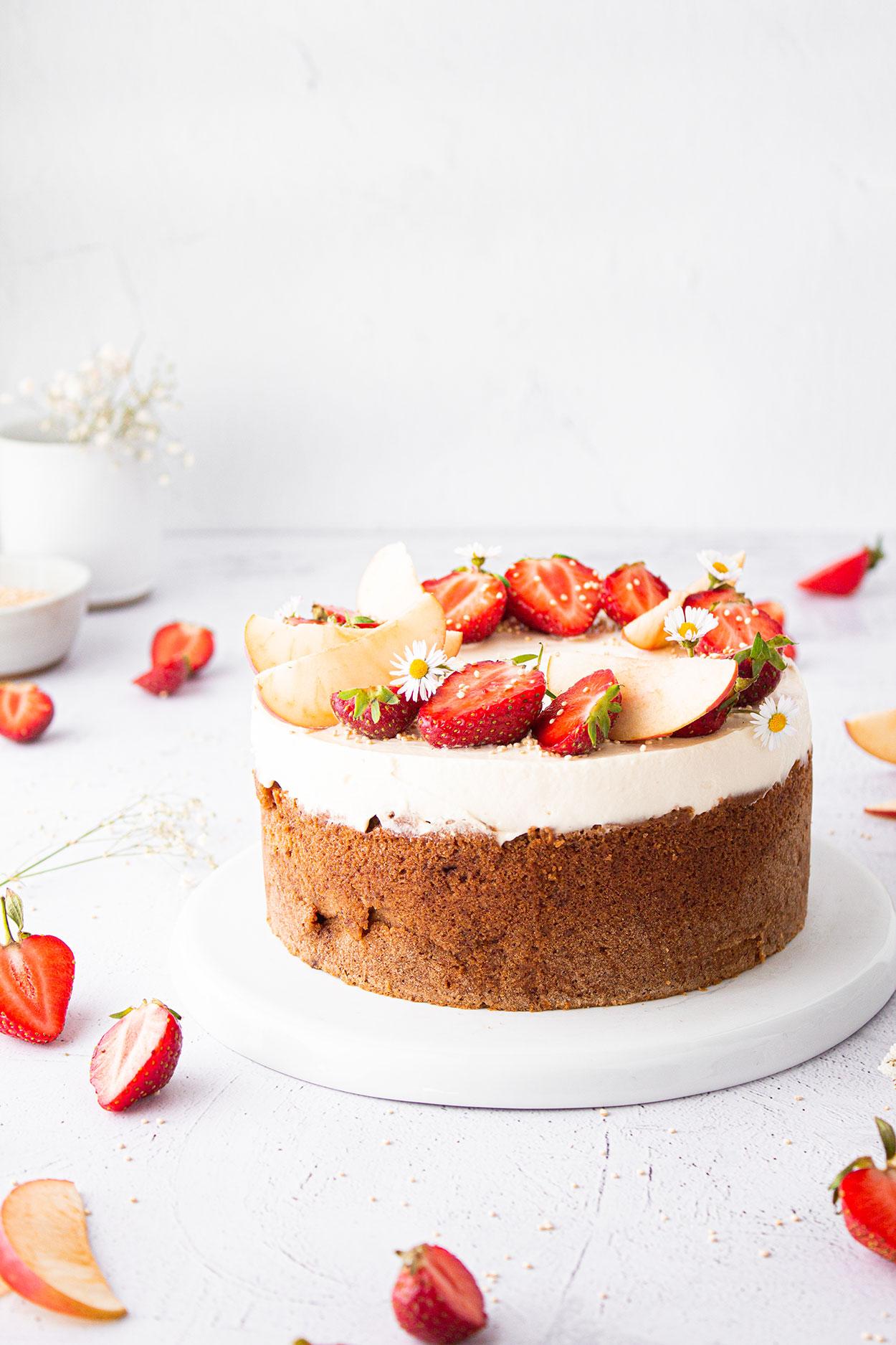 Chai Erdbeer Apfel Kuchen