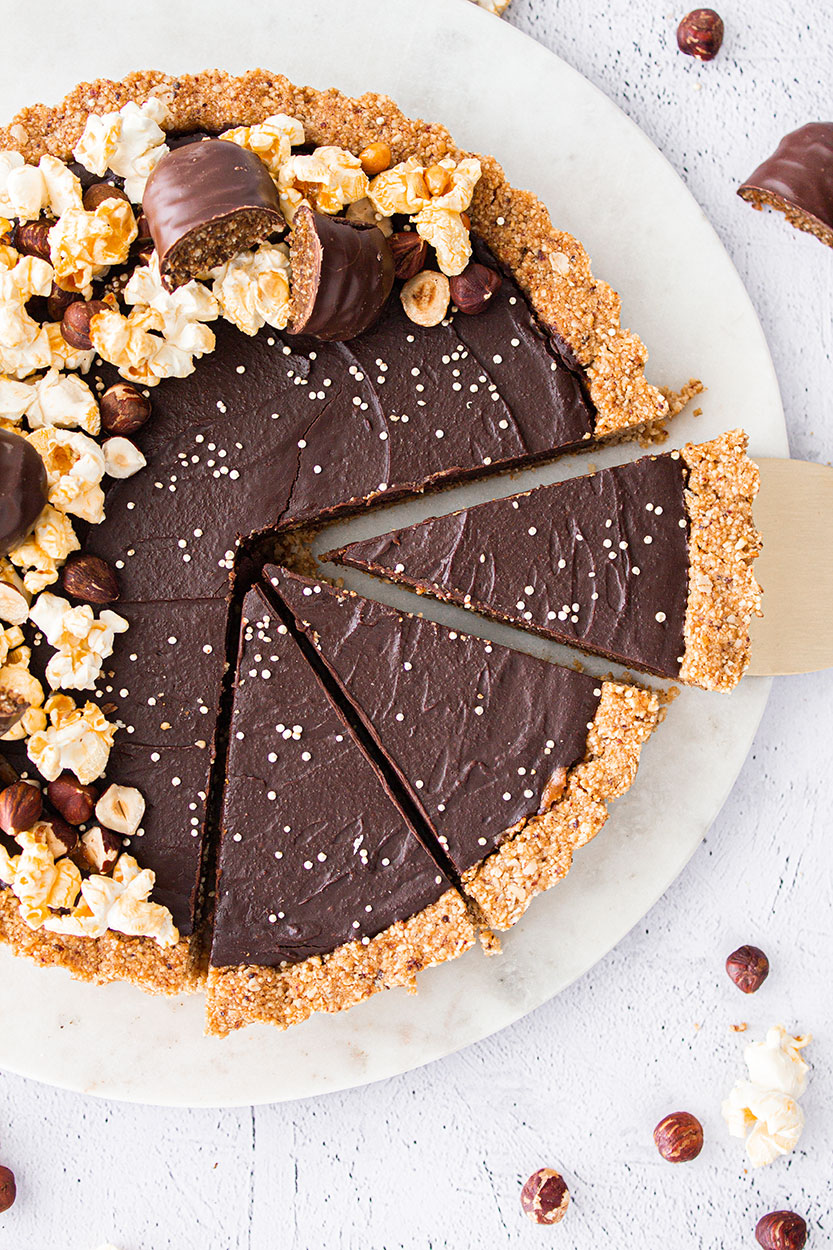 Schokoladen Haselnuss Tarte